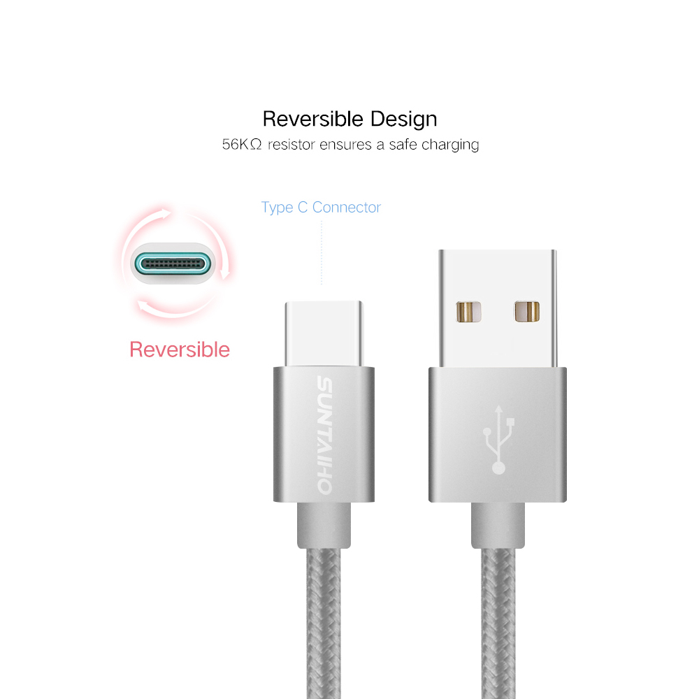 Suntaiho 3.1 USB Type C Cable 1M 2M 3M Fast Charging Data Sync Cable for Samsung Galaxy S8 Switch Oneplus 5 XiaoMi mi6 mi5 USB C 4