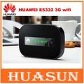 Abierto original de huawei e5332 21.6 m 3g hspa umts 900/2100 mhz wireless router pocket wifi hotspot móvil pk e586 e587 e5331