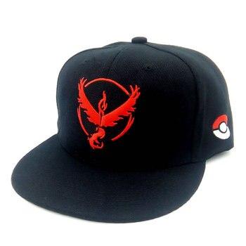 2f53f305244f YM 3 estilos nuevos hombres mujeres par Pokemon ir gorras de béisbol  hip-hop algodón de poliéster ajustable Snapback caliente negro sombreros al  por mayor