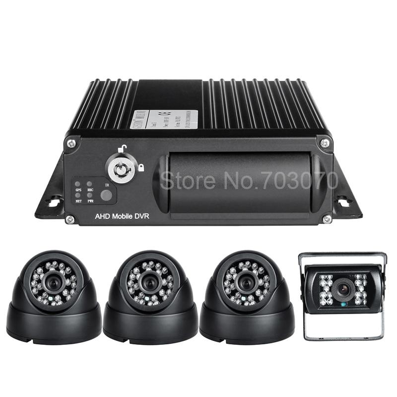 4PCS 2.0MP AHD камералары + CCTV мониторингі IOS - Автомобиль электроникасы - фото 2