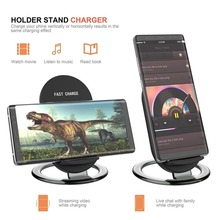 QI Fast Wireless Charger for iPhone X XS max XR 8 plus Desktop Charging Stand for Samsung S9 S8 plus S7 S6 edge note 9 8 charger цена
