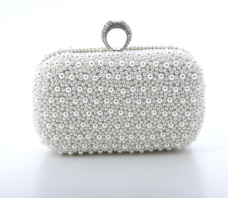 383f081ff6 Women Evening Bags Finger Rings Diamonds Wedding Lady Handbags Chain ...