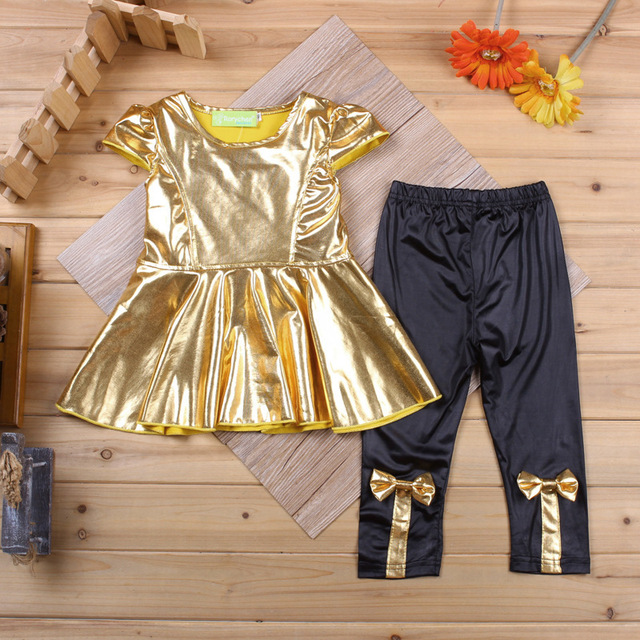 d7c696f6c summer Baby fall Clothes Set 2018 Cute Baby Girls short Sleeve top + bow  Leggings Suit Bling Baby 2pcs spring Outfits Clothing. WINTER SALE