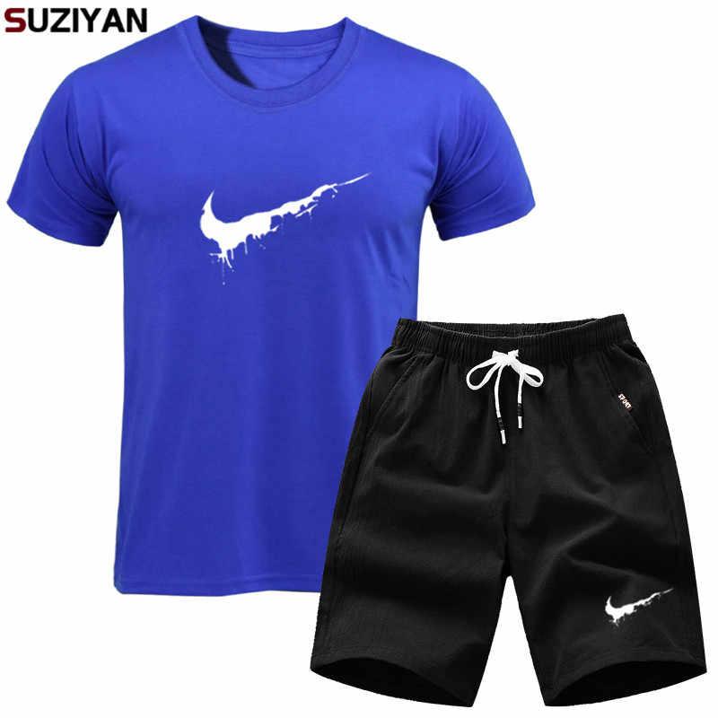 Tシャツセット男性ファッション 2 個カジュアル Tシャツセットメンズブランド 2 枚のスポーツ衣料品男性のセットスポーツウェアスーツ男性