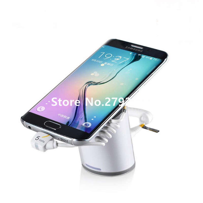 5 set/lot cell phone security anti-theft display stand with alarm and charging function for mobile phone retail store exhibition wholesale price mobile phone anti theft alarm display stand with charging for exhibition