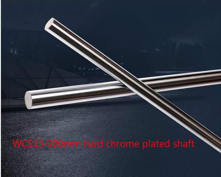 3D Printer Rod Shaft 13mm Linear Shaft L 200mm Chrome Plated Linear Guide Rail Round Rod Shaft For Cnc Robot 1pcs