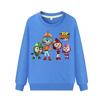 Kids Cartoon Top Wing Sweatshirts Hoodies Boys Girls Long Sleeve Pullover Hoodie Clothing Children Spring Sports Costume DZ109 1