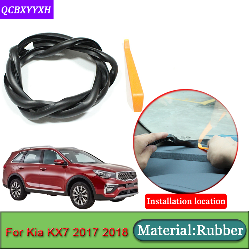 Car styling For Kia KX7 2017 2018 Rubber Anti Noise Soundproof Dustproof Car Dashboard Windshield Sealing Strips Car Accessories|Sound & Heat Insulation Cotton| |  - title=