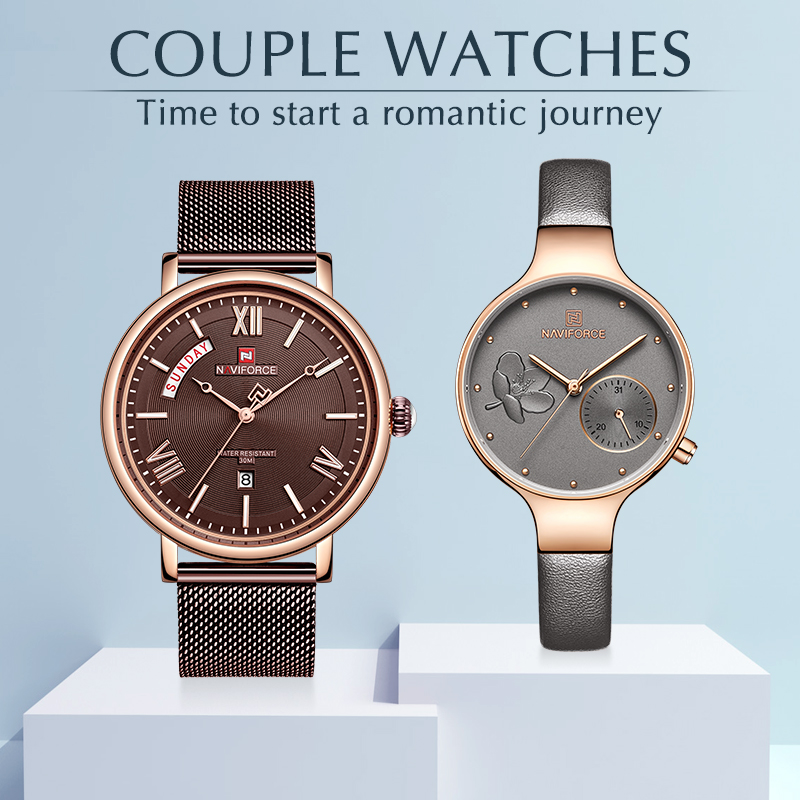 Lovers Watches Luxury Quartz Wrist Watch for Men and Women NAVIFORCE Top Brand Calendar Fashion Clock Couple Watch Set for SaleLovers Watches Luxury Quartz Wrist Watch for Men and Women NAVIFORCE Top Brand Calendar Fashion Clock Couple Watch Set for Sale