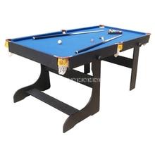 SUB-7236F, американский стиль, 6 деревянные, для ног, складной бильярдный стол с 16 шариками, 2 кия, сильная рама и ноги, спортивное оборудование для снукера