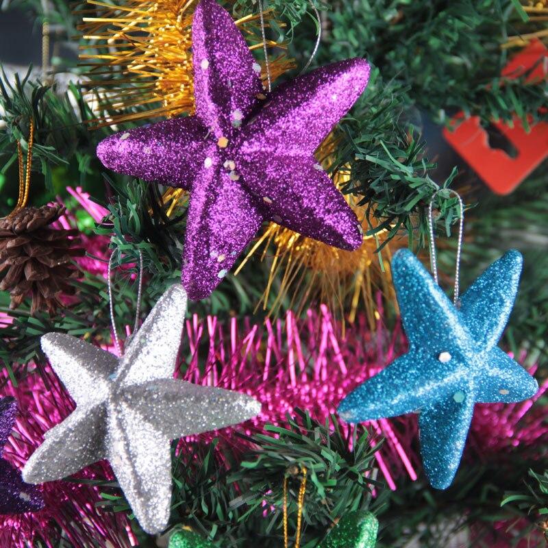 6 Teile/los Foam Pentagram Weihnachten String Hängen Sterne ...