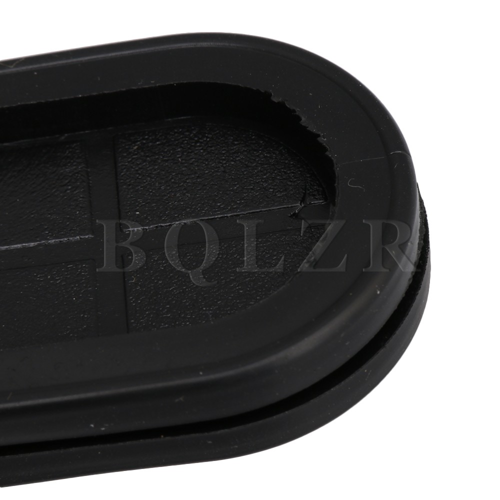Bqlzr 10pcs 30x85mm Groove Black Oval Shape Double Sided
