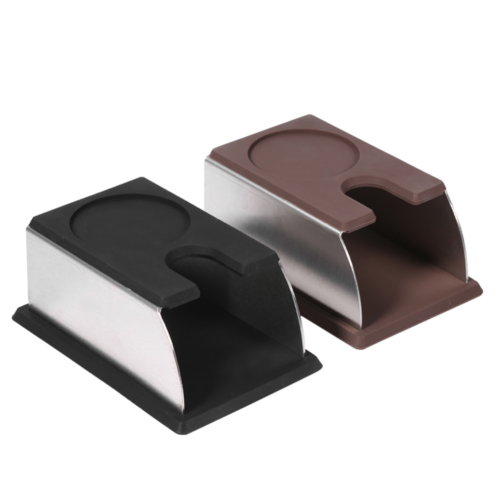 Simple type Coffee Tamper Holder Coffee Powder Maker Stand Rack Tool Stainless Steel Silicone Useful 2