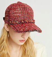 women plaid baseball caps adult casual adjustable cotton autumn winter spring 2018 new