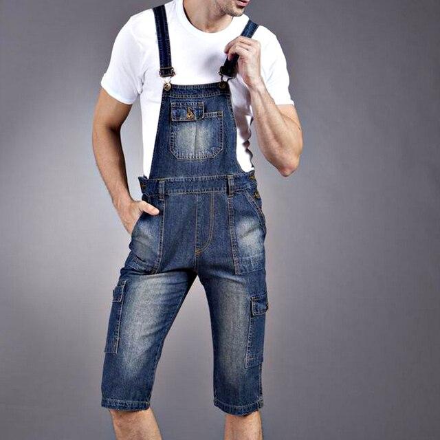 681409a2131 Summer Spring Casual Mens Denim Cargo Pants