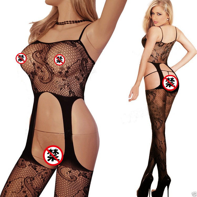 New Hot Women Sexy Suspender Garters Mesh Fishnet -8841