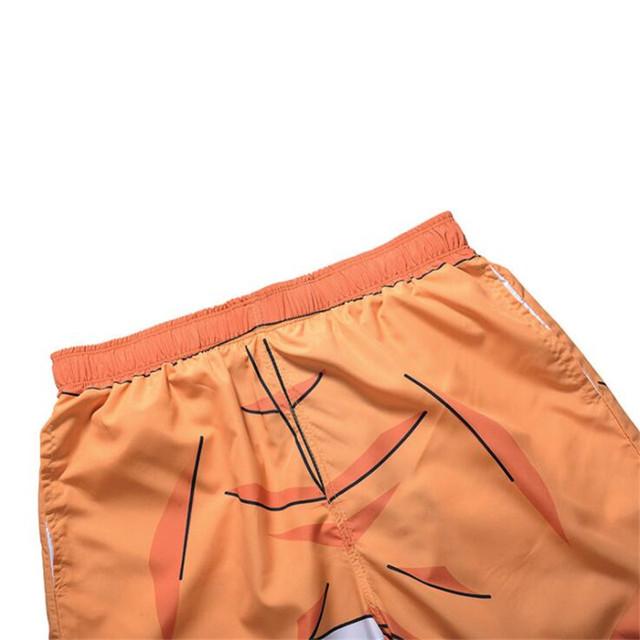 Anime Naruto Uzumaki Men Cosplay Board Shorts Summer 3D Printing Man Beach Shorts Leisure Trunks Swimwear