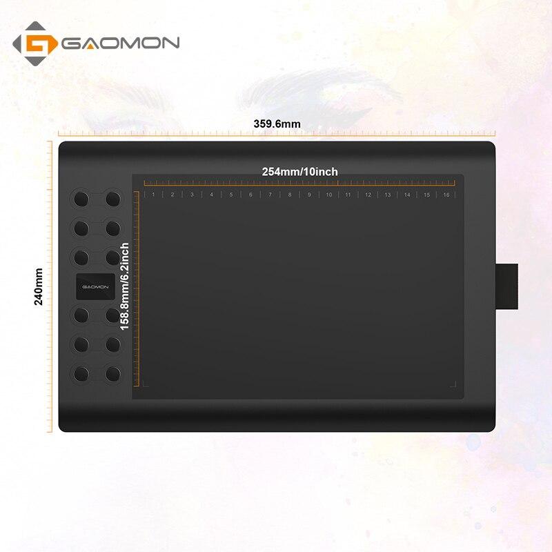 GAOMON Graphics Tablet M106K USB Digital Digital PenTablet 10 x 6 - Համակարգչային արտաքին սարքեր - Լուսանկար 4