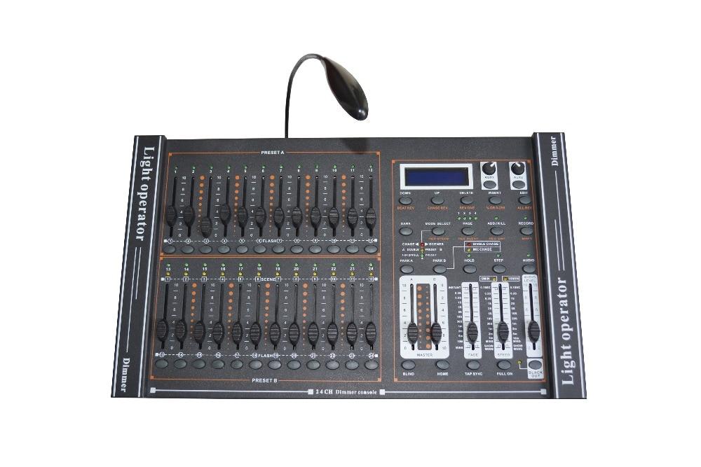 Rasha Haute Qualité 24 Canaux DMX512 Gradation Console Gradateur Contrôleur Pour DJ Système de Contrôle LED Stage de Lumière, Lumière Opérateur