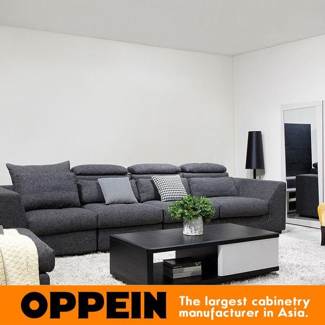 Moderne Dunkle Farbe Schnitt Stoff Couch Wohnzimmer Möbel Ecksofa  WS TM160006