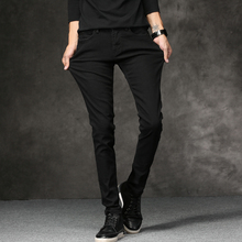 2018 Spring New men Jeans Black Classic Fashion Designer Denim Skinny Jeans men's casual High Quality Slim Fit Trousers