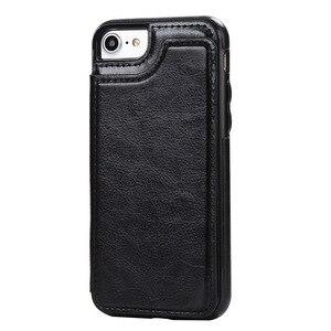 Image 5 - Caso para Samsung Galaxy S7 S8 S9 S10 Plus Nota 8 9 PU cuero Flip cartera cubierta con el titular del teléfono antiarañazos resistentes a la suciedad