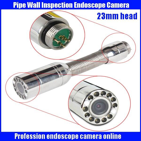 23mm Pipeline Inspection Drain Pipe Sewer Snake Video Camera Head Wall Inspection camera Head with sony CCD600TVL chip  видеоскоп kenko snake 140155 pipe wall kit 84033 удлинитель эндоскопа