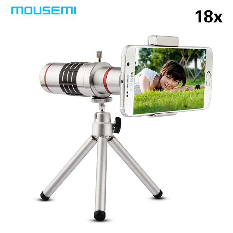 MOUSEMI New 18x Zoom Optical Telescope Mobile Telephoto Lens With Tripod For Samsung Universal Mobile Phone Lens Camera Lenses