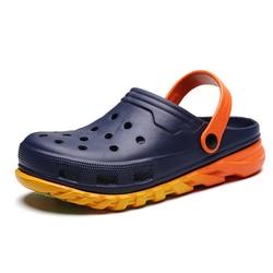 Big Size 36-45 Men Sandals Rubber Clogs Shoes Hole Shoes EVA Sandalias Summer Beach Shoes Slippers Cholas hombre Unisex Couple