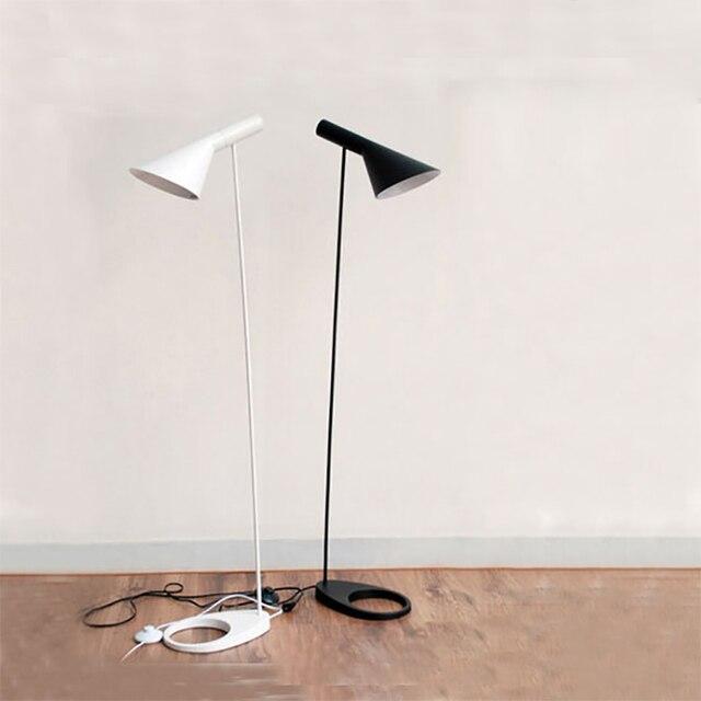 AJ Floor Lamp E27 Black/White Arne Jacobsen Louis Poulsen Metal ...