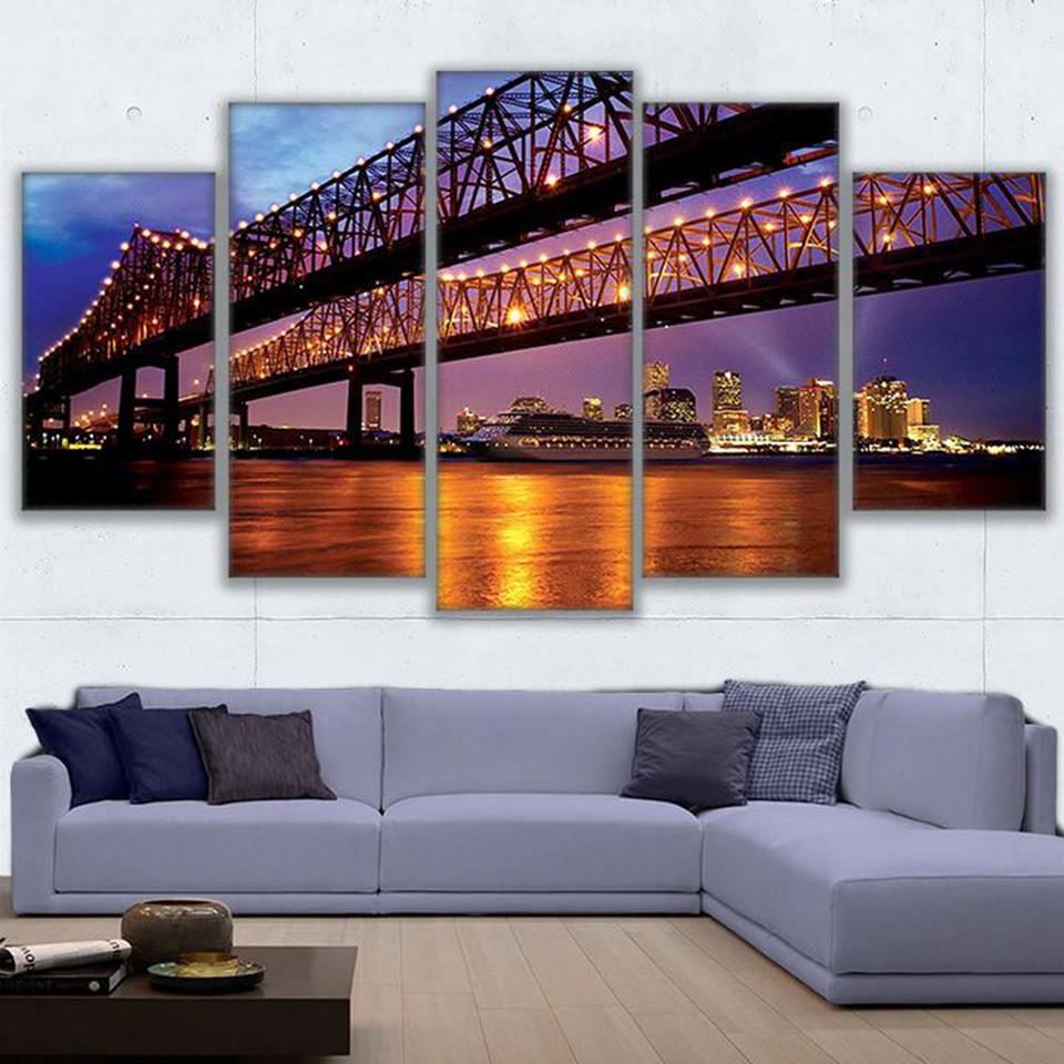 Home Decor New Orleans: Canvas Paintings Wall Art Home Decor 5 Pieces Greater New