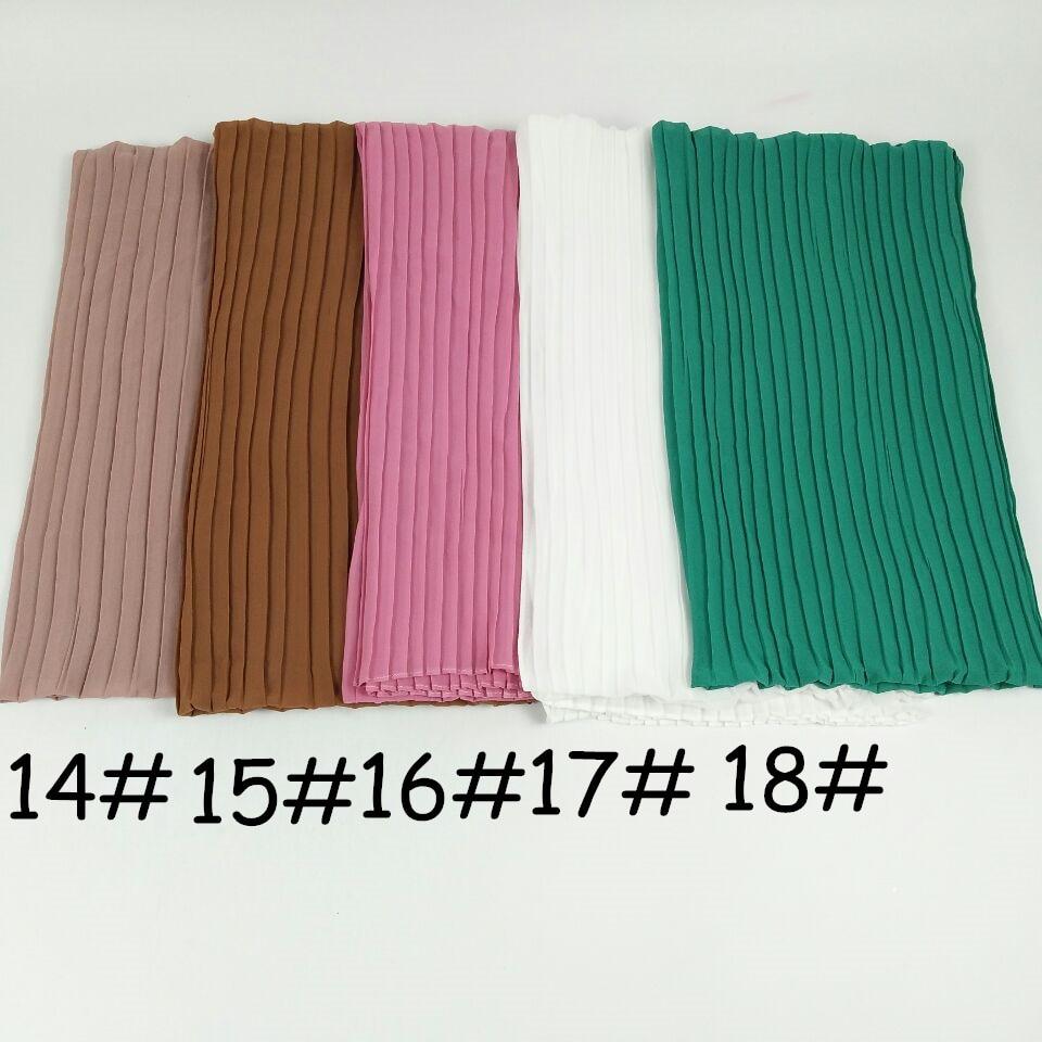 S13  High quality crinkle bubble chiffon hijab wrap scarf long shawl headband wrap 180*85cm 10pcs/lot can choose colors