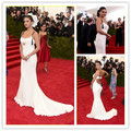 MGC24 Hot Sell Celebrity Dresses 2015 Met Gala Selena Gomez White Sweetheart Mermaid Evening Gowns Party Dresses robe de soiree
