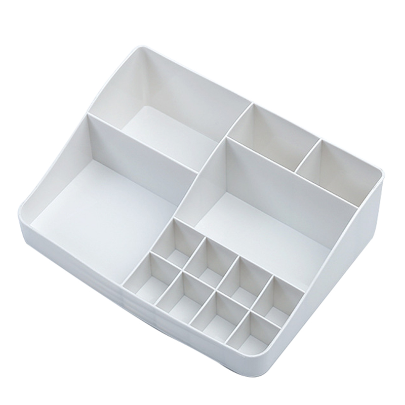 Practical Boutique Cosmetic Organizer Makeup Storage Beauty Make Up Cosmetic Box, White Holder