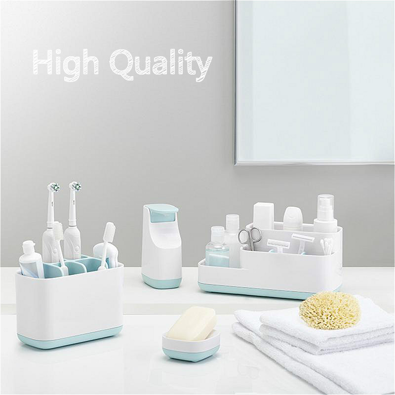 Quality Makeup Storage Organizer Toothbrush Box Holder Rack Toothbrush Dispenser Cup Soap Container Bottle Bathroom Accessories