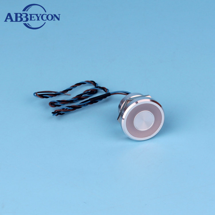 Abbeycon Red Illuminated light LED 22mm 2A 12V Flat Head IP68 Waterproof Normally Open Latching wired Touch Piezo Switch elewind 22mm ring illuminated piezo switch 22mm ps223p10yss1b24t rohs ce