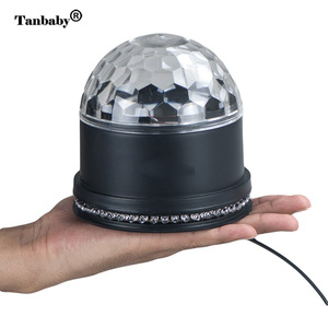 Image 3 - Mini Rotating Magic Disco Ball 48 LED RGB Stage Light Sound Actived Auto RGB  Strobe PAR Party Lights For DJ Show диско шар