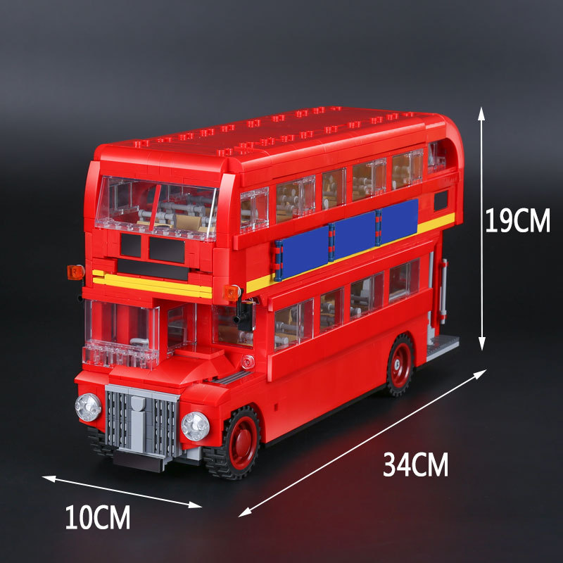 21045 1716Pcs Genuine Technic Series The London Bus Set Building Blocks Bricks Children Educational 10258