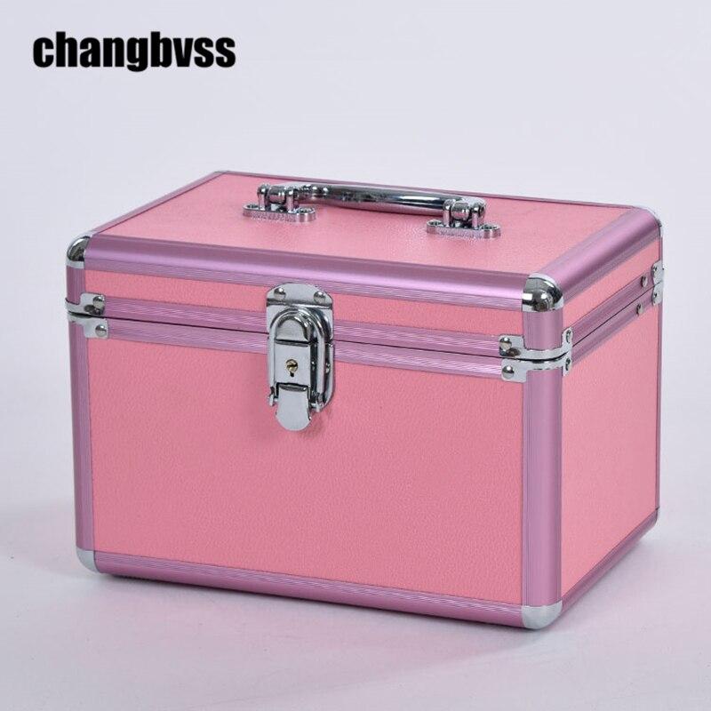 Nouvelle Princesse Style Maquillage Boîte De Rangement Sac Bijoux Box Container Fille Voyage Cosmétique Maquillage organisateur organisateur de maquiagem