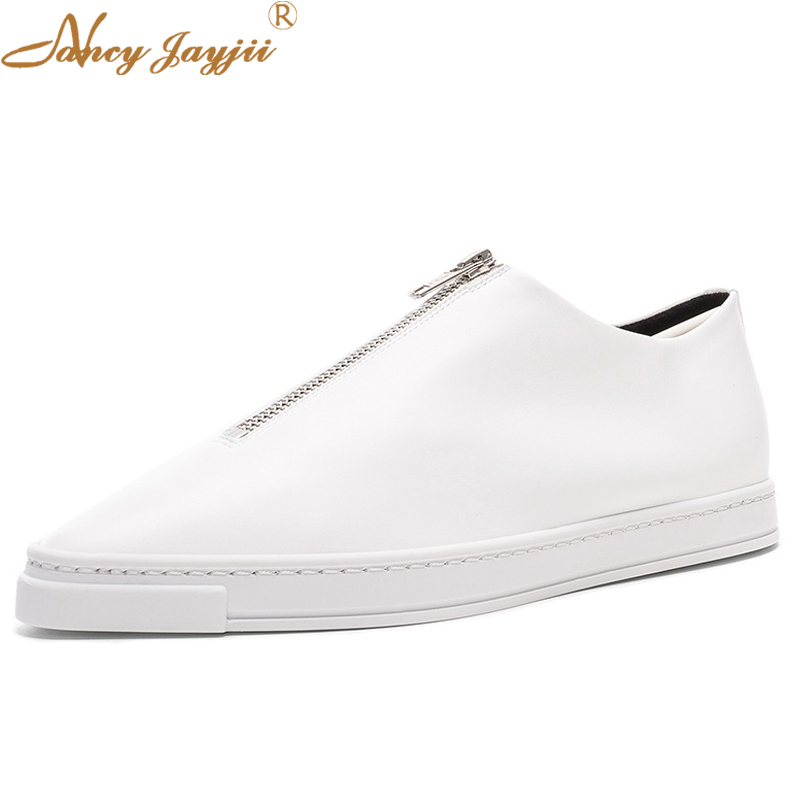 Casual  White Black Loafers Stan Superstar Women Genuine Leather Flat Shoes Vulcanize Designer Brand Woman Shoes Nancyjayjii original italy brand golden goose pelle casual shoes superstar women men genuine leather ggdb star white shoes scarpe da donna