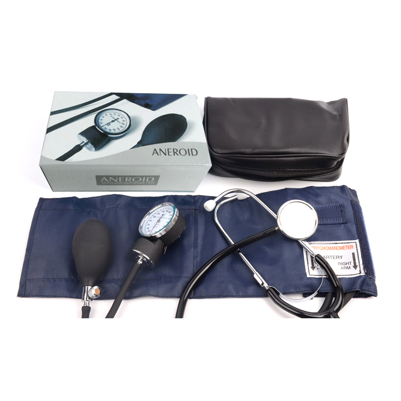 Medical Equipment Doctor cardiology Blood Pressure Monitor Meter Tonometer Cuff Arm Stethoscope Kit Travel Sphygmomanometer image