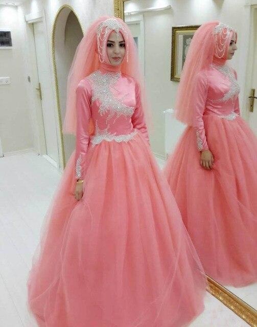 Princesa Musulmana Pink Balón vestido de Baile Vestidos de Fiesta ...