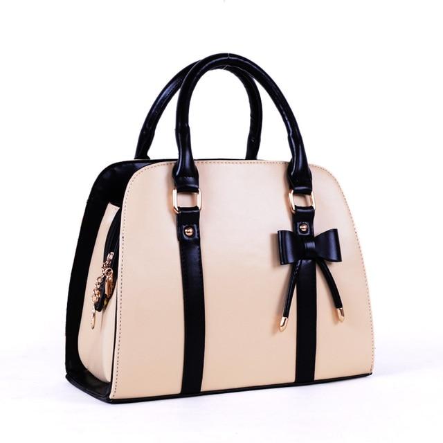 2013 pink summer female fashion vintage bow small handbag brief bags free shipping