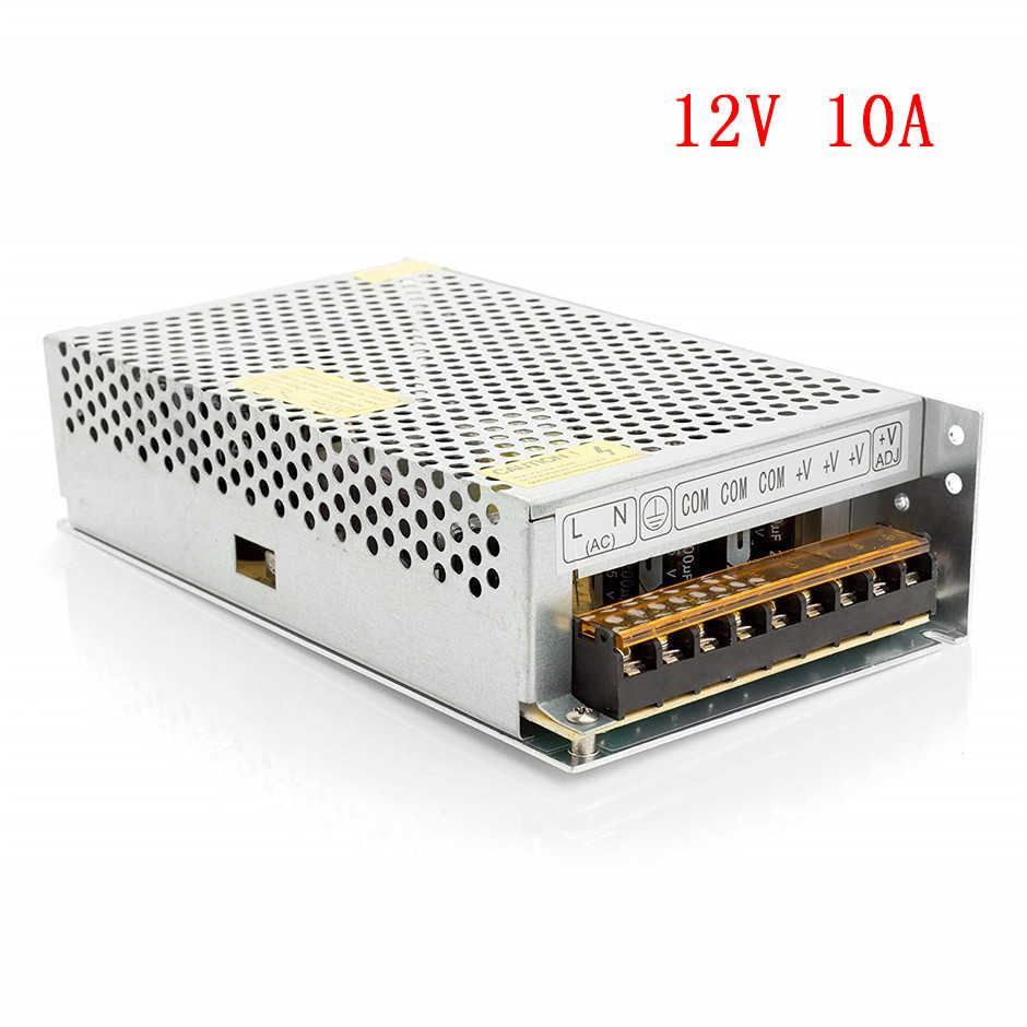 Taśma oświetleniowa LED transformatory AC 110 V 220 V do DC 12 V 1A 2A 3A 5A 8A 10A 15A 20A 30A przełącznik zasilacz adaptera sterownika LED