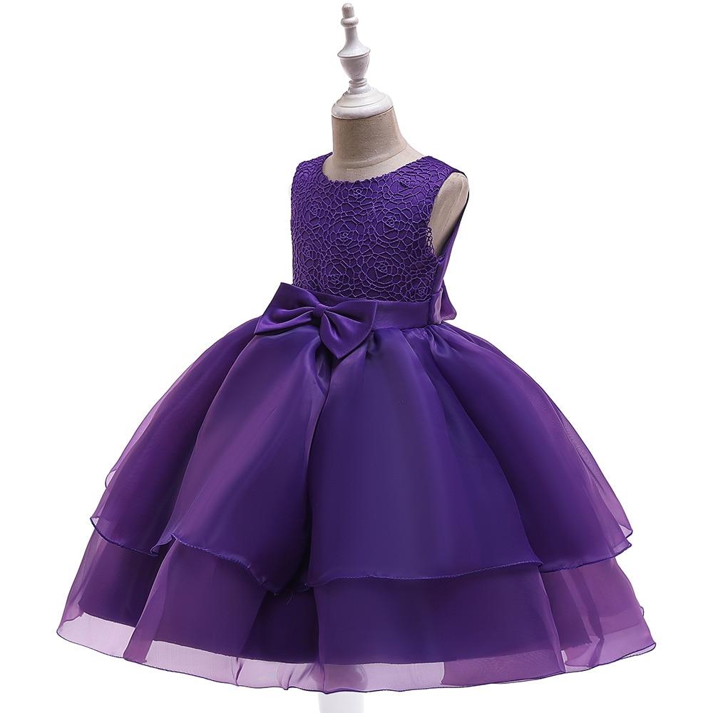 Fille dentelle robes mode princesse robe enfants vêtements elbise robe fille premier anniversaire enfants fête junker saia raiponce falda - 2