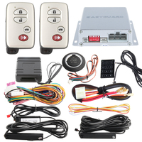 Good quality car alarm kit passive keyless entry immobilizer bypass, remote engine start/stop and push button start