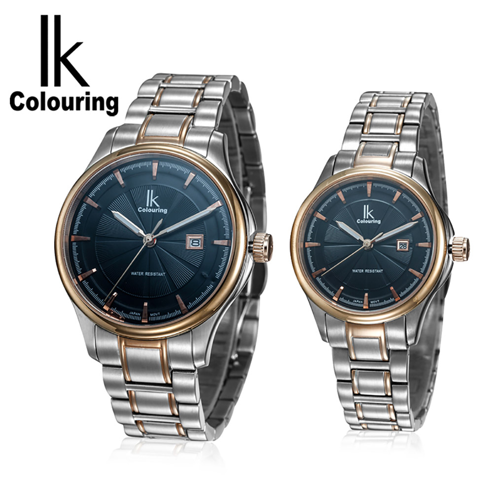 IK colouring Famous Luxury Top Brand Automatic Mechanical Couple Watches 304 Steel High Quality Water Resistant
