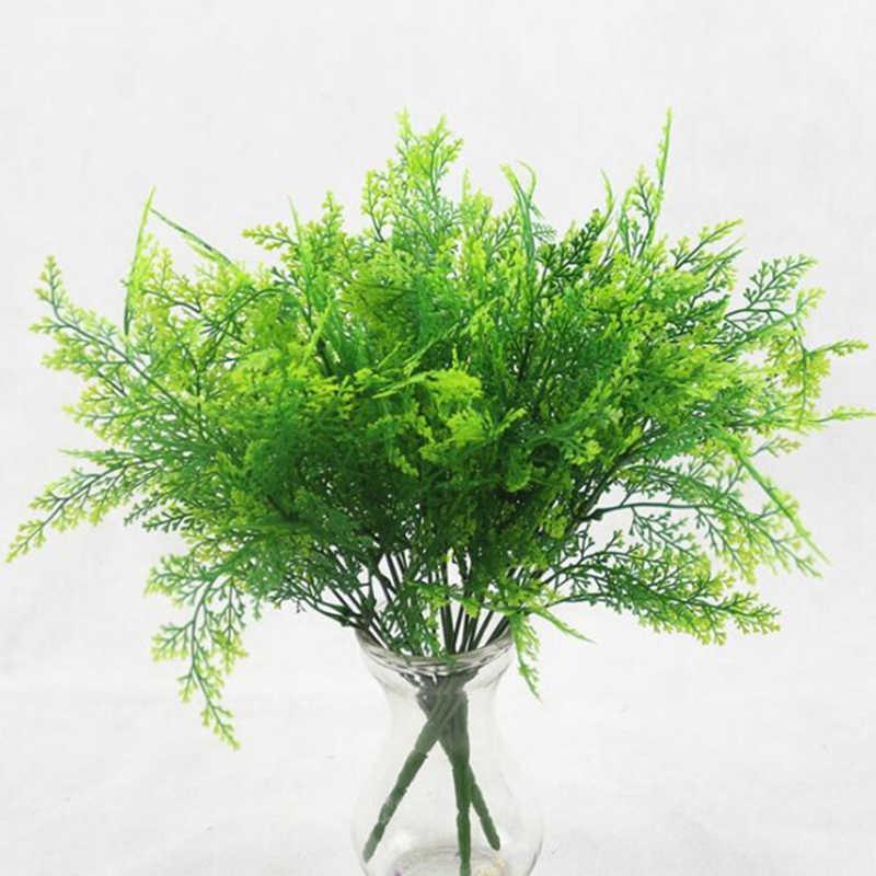 7 vork water gras Eucalyptus Plastic Kunstplanten Groen Gras plastic bloem Plant Wedding Home Decoratie Tafel Decors