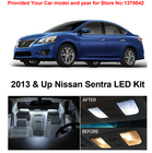 Free Shipping 4Pcs/Lot car-styling Xenon White Package Kit LED Interior Lights For Nissan Sentra 2013 & Up