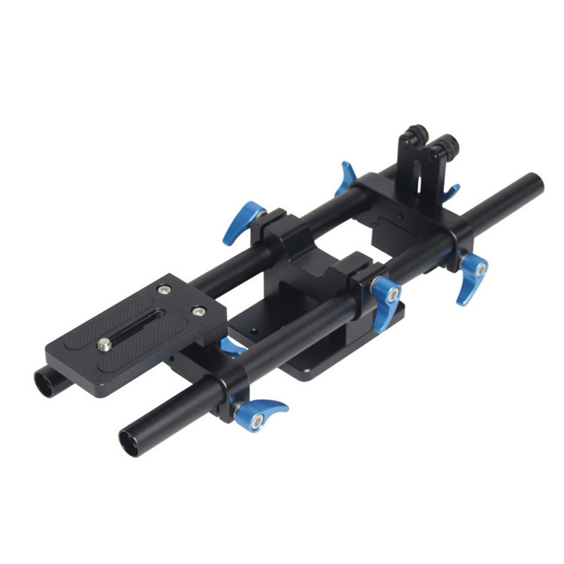 Professional 15mm Aluminum Alloy Rail Rod Support System DSLR Camera Track Rail Slider Baseplate & 1/4